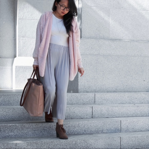 Pants - Wide Leg Silver/Grey Pants